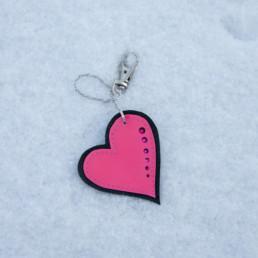 Pinkki sydänkoru
