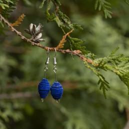 Siniset korvakorut