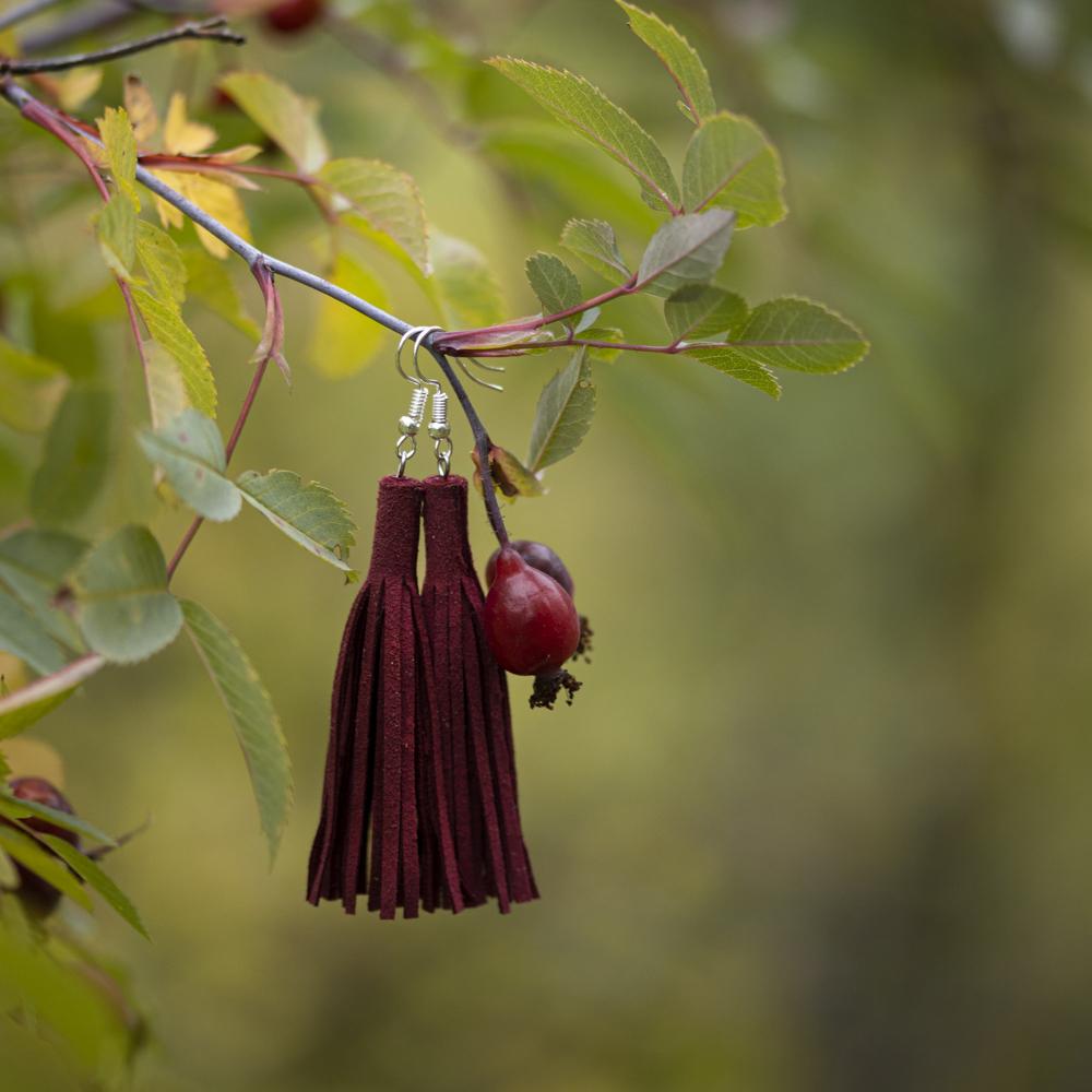 Ruusunmarja-korvakorut